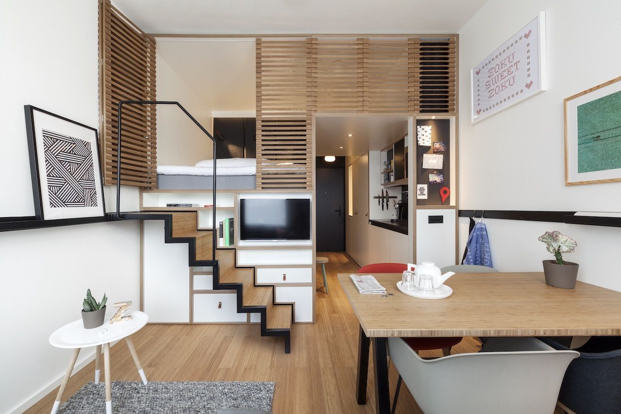 Zoku Hotel room interior