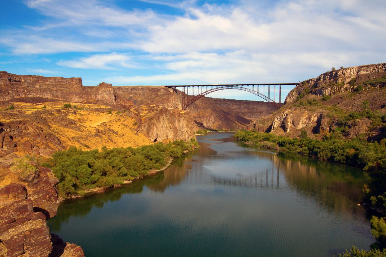 The River Snake and the Perrine Bridge at Twin Falls, Idaho