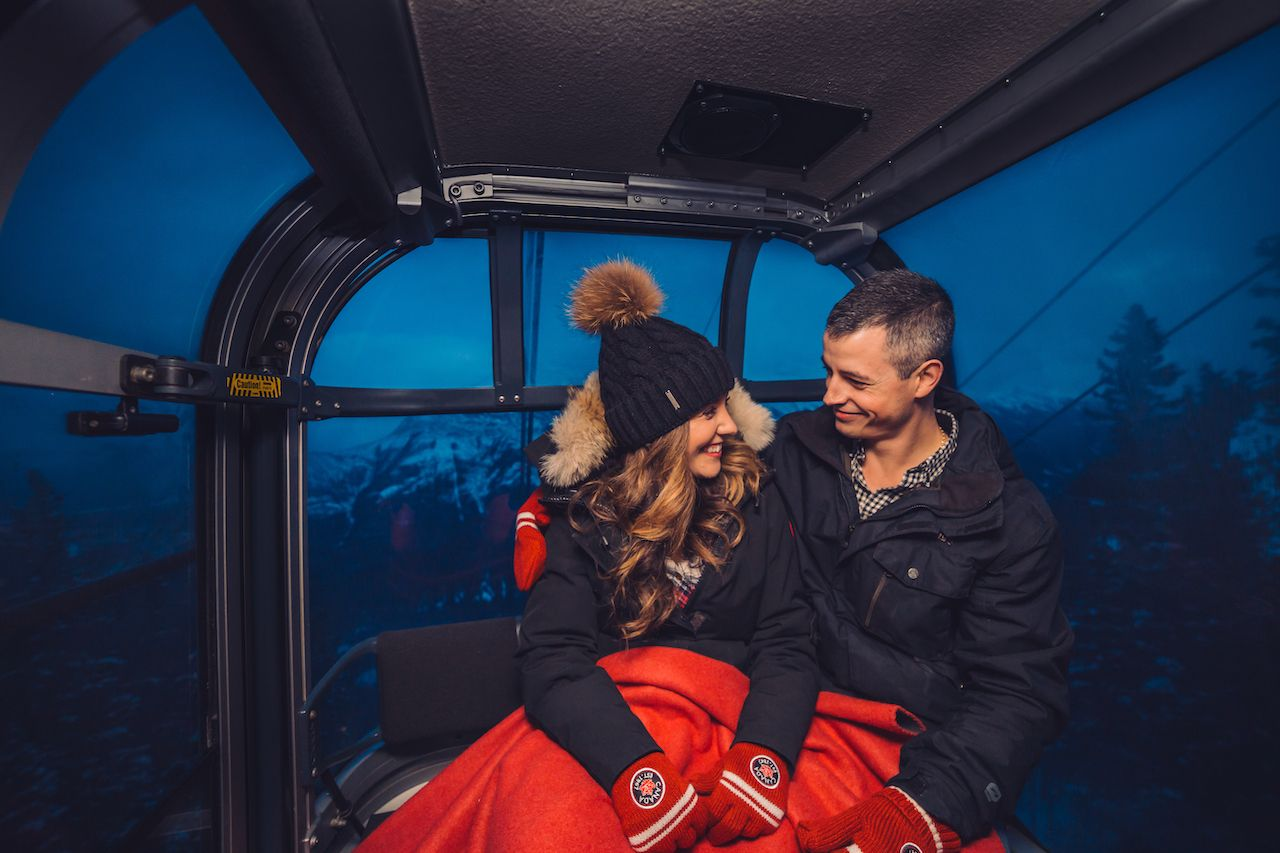 stargazing in Banff, Canada for couples