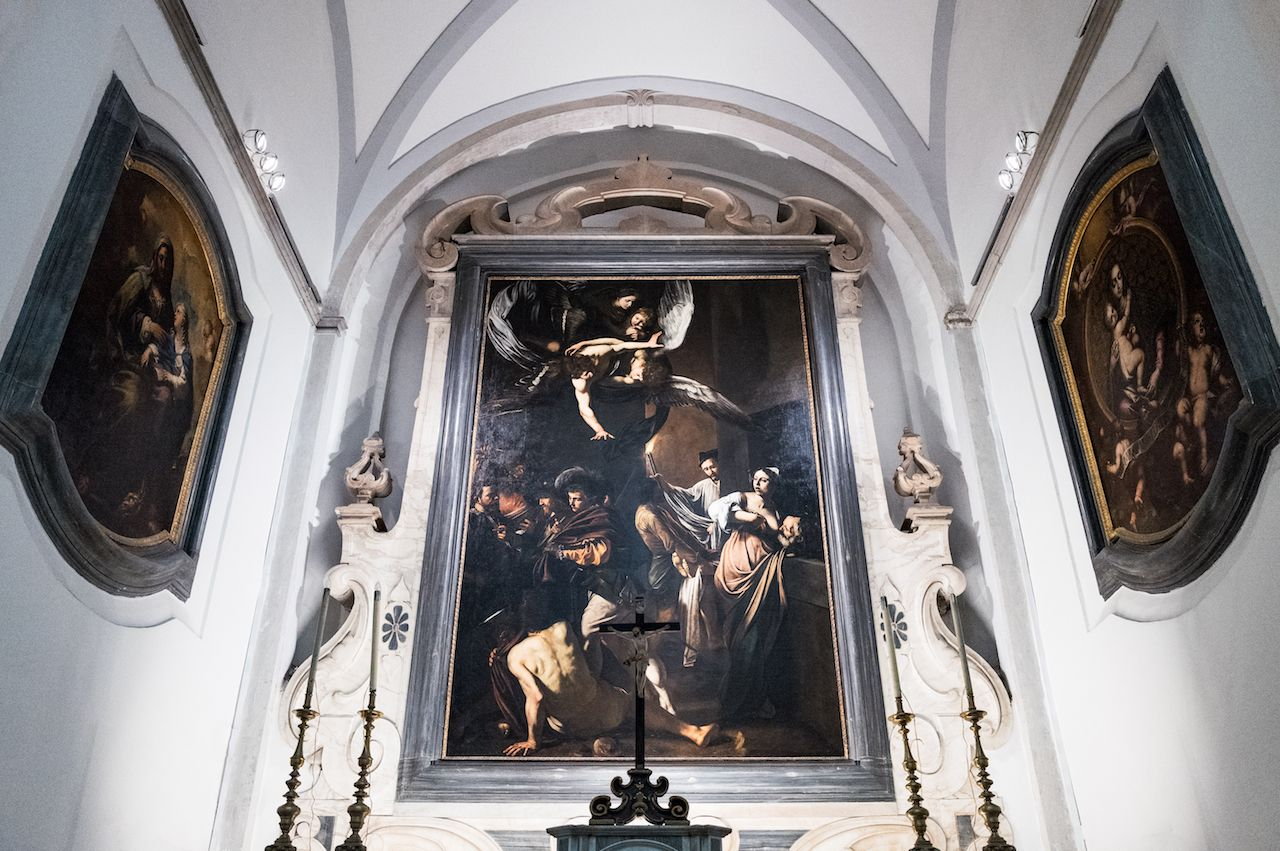 A painting by Caravaggio in Monte Carlo Misericordia Church