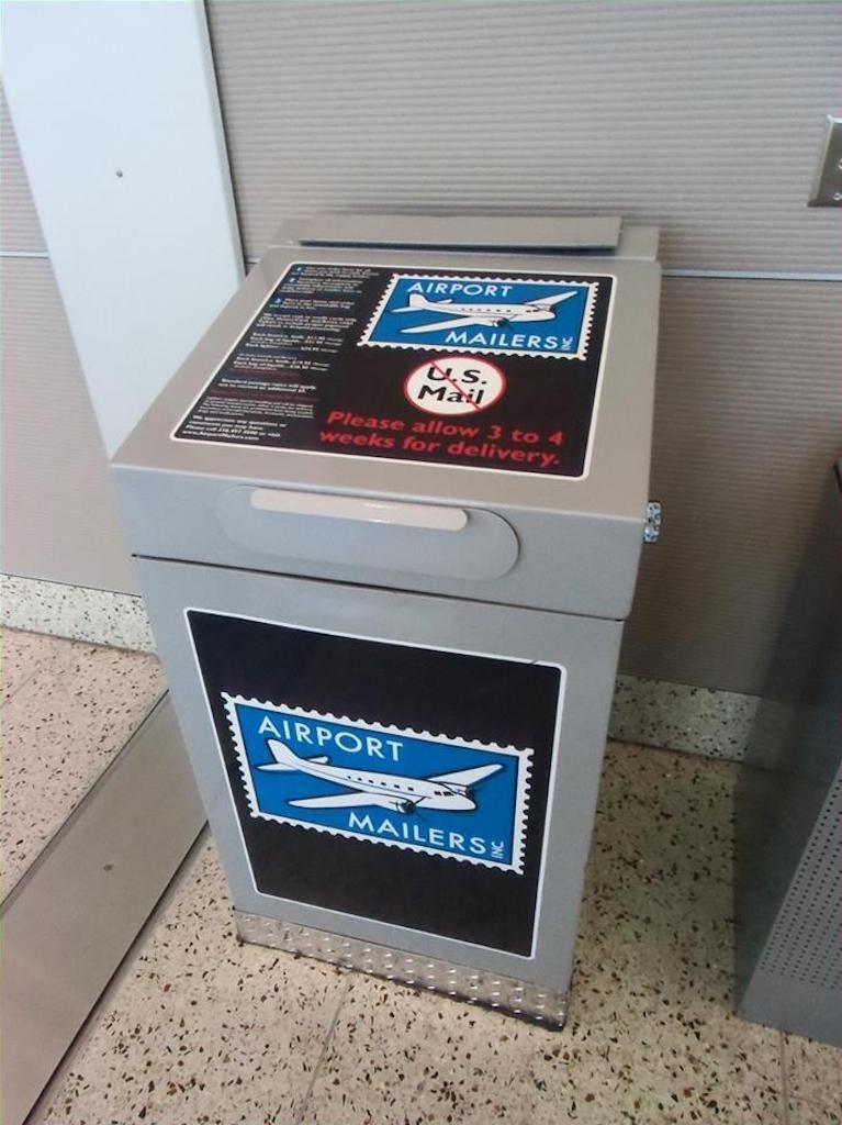 Airport Mailers deposit box