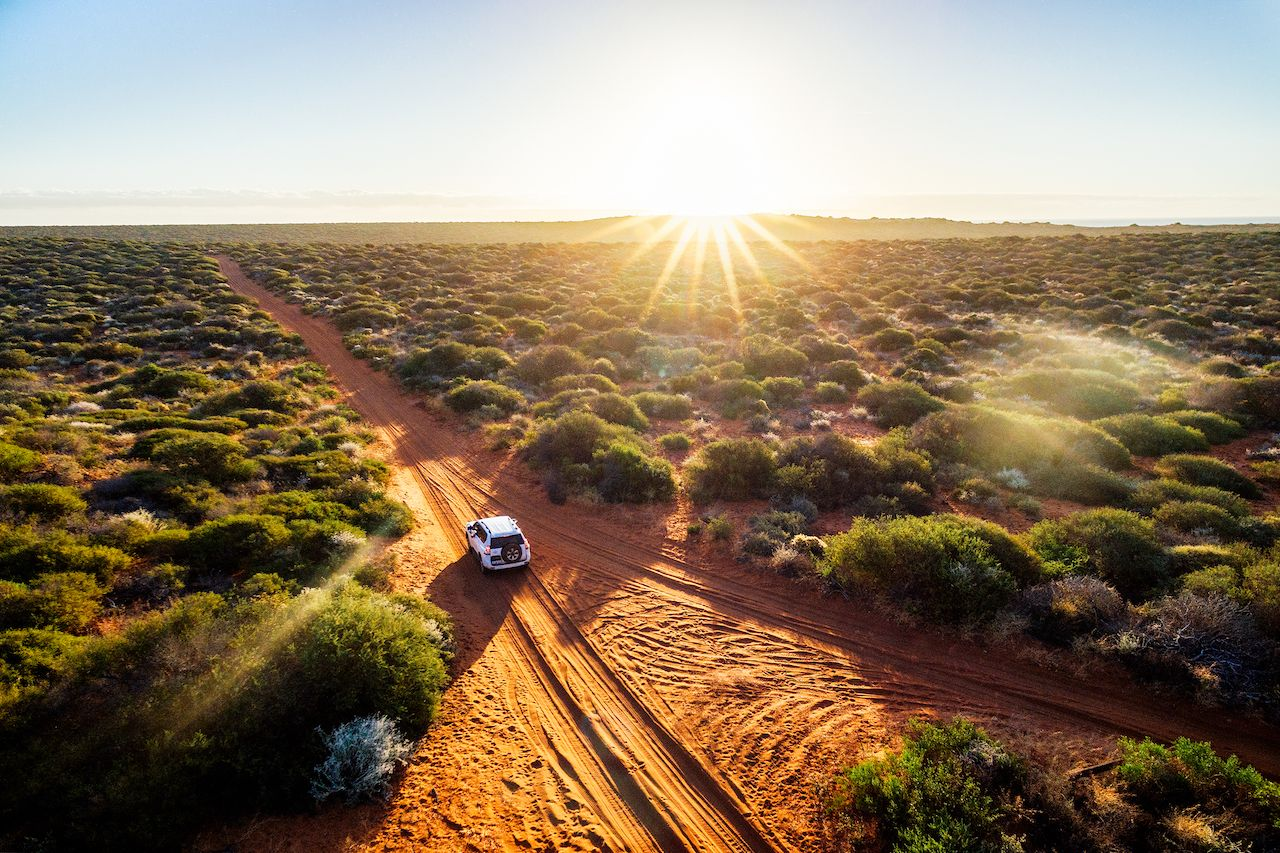 Australia, Red Sand Unpaved Road