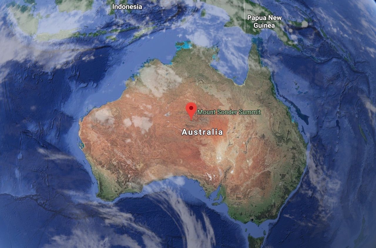 Australian pole of inaccessibility