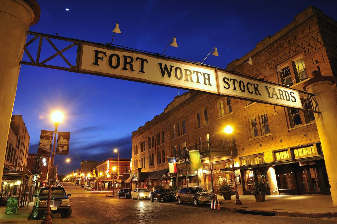 Banner at Fort Worth Historical Stockyards District