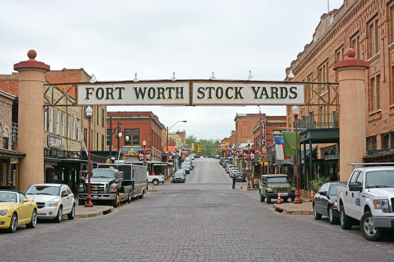 Banner at the Fort Worth Stock Yards, Texas