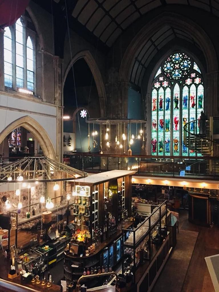 Bar in a converted church