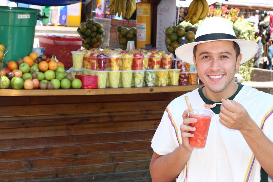 Bogota Colombia fruit market