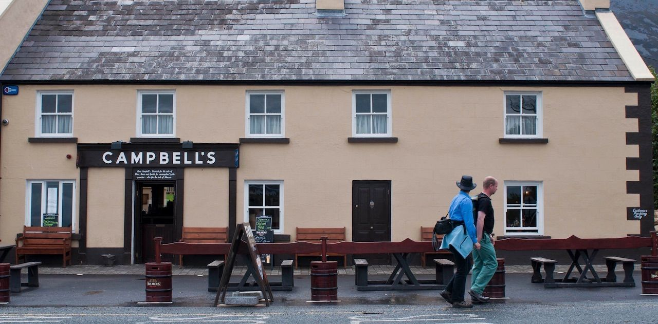 Campbells pub at the foot of Croagh Patrick