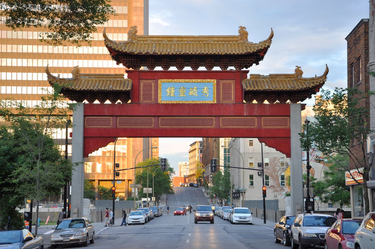 Chinatown Gateway at the entrance to Montreal Chinatown