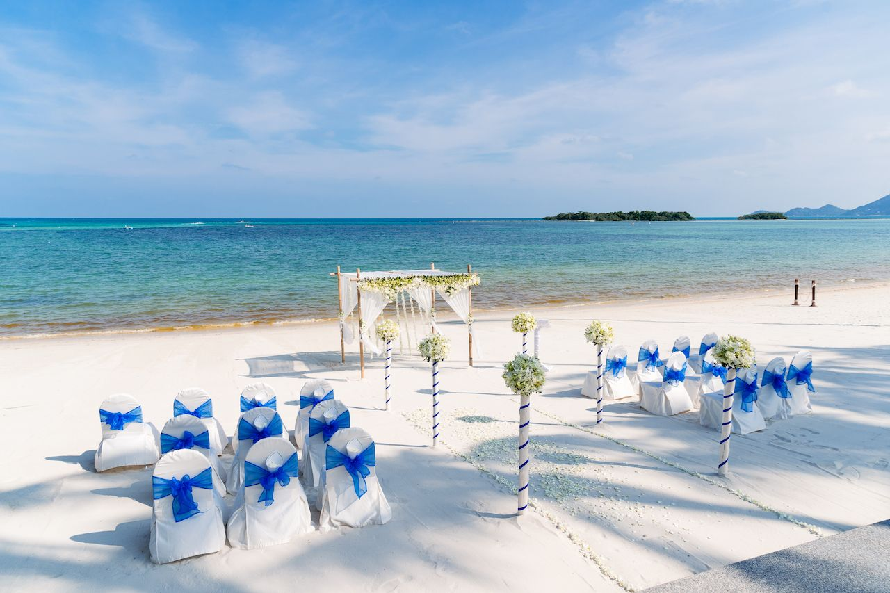 Destination Wedding Venue on the beach, Samui Island, Thailand