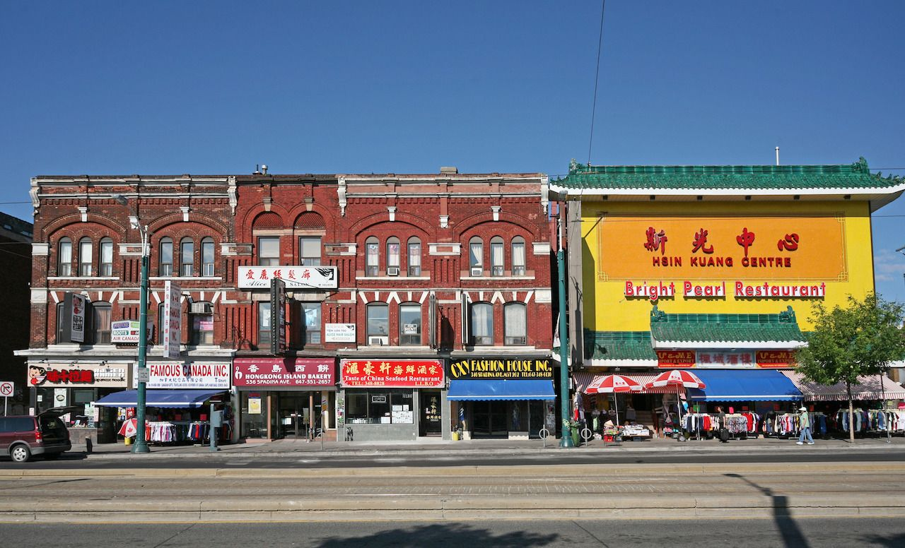 Downtown Toronto has a large colorful Chinese area
