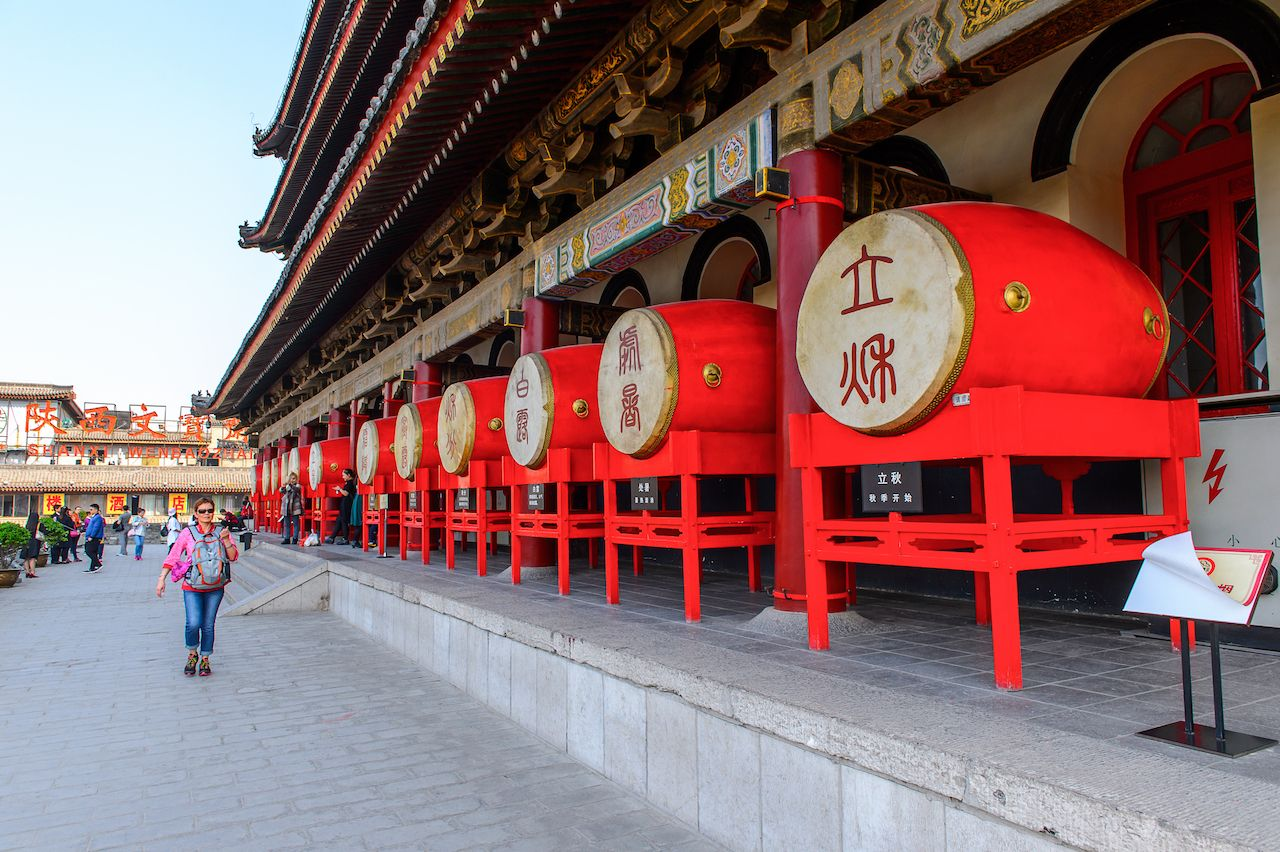 Drum Tower of Xi'an is one of the symbols of the city
