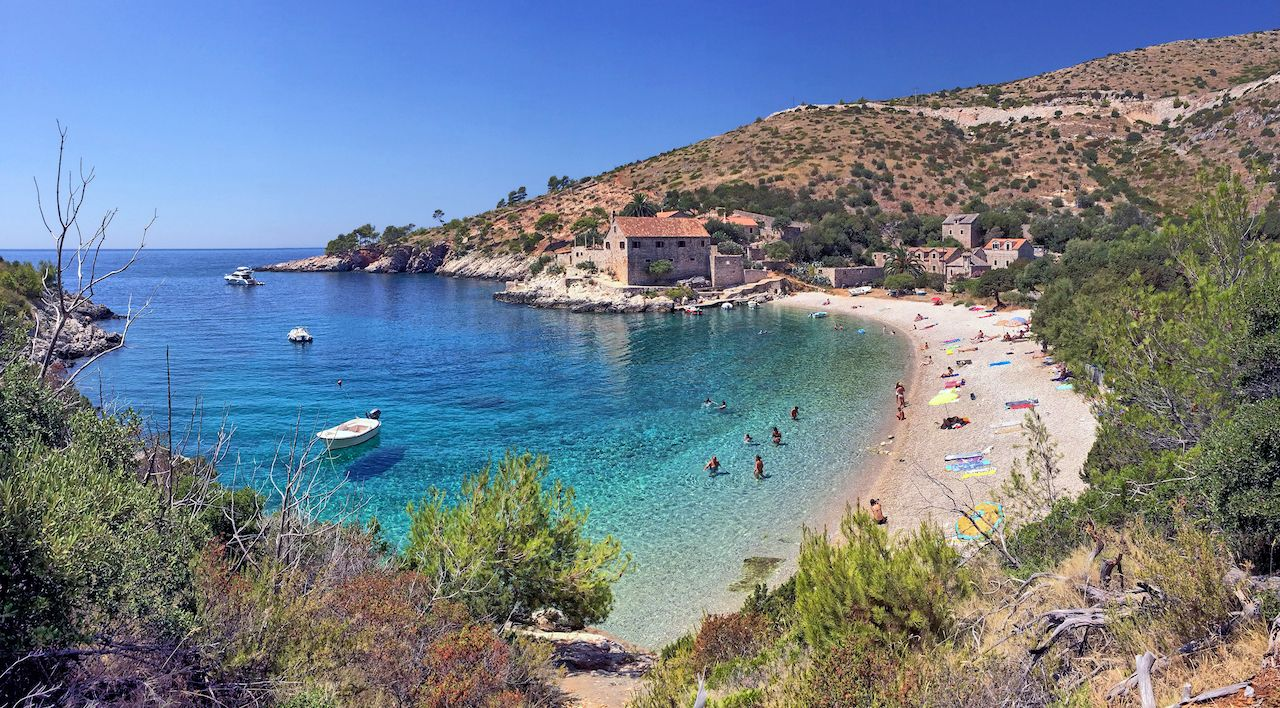 Dubovica Beach on Hvar in Croatia