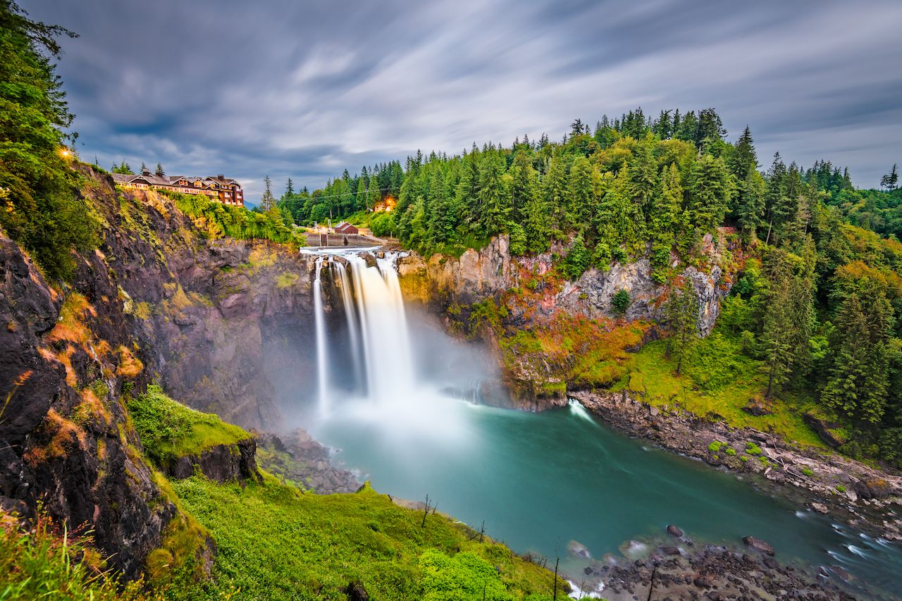 Falls City, Washington, USA at Snoqualmie Falls