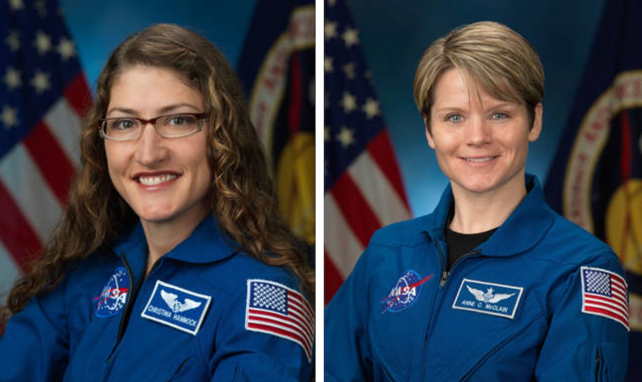 Female astronauts for first all-female space walk