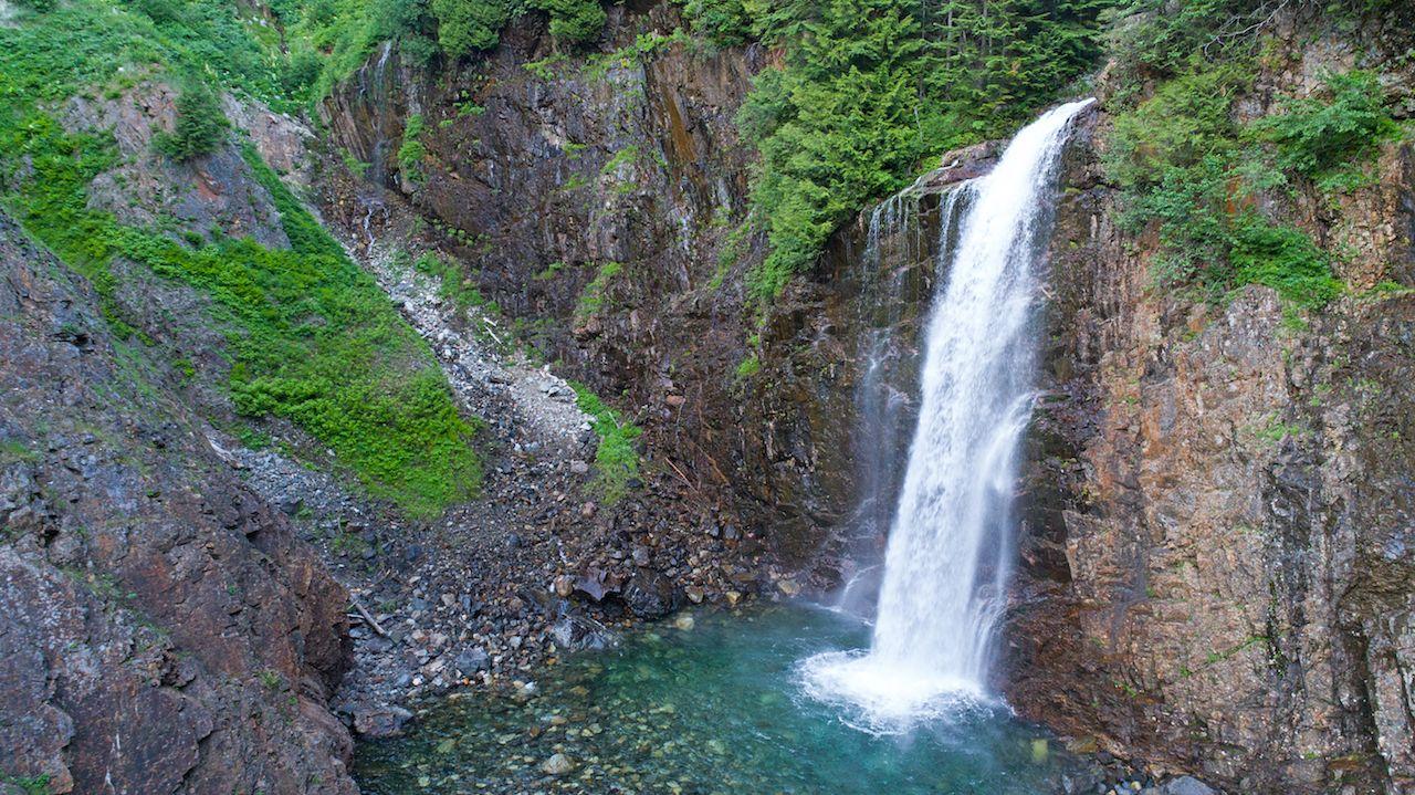 Franklin Falls Washington Pacific Waterfalls Washington