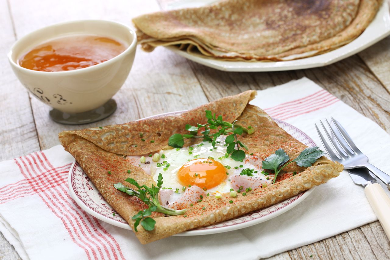 French buckwheat crepe