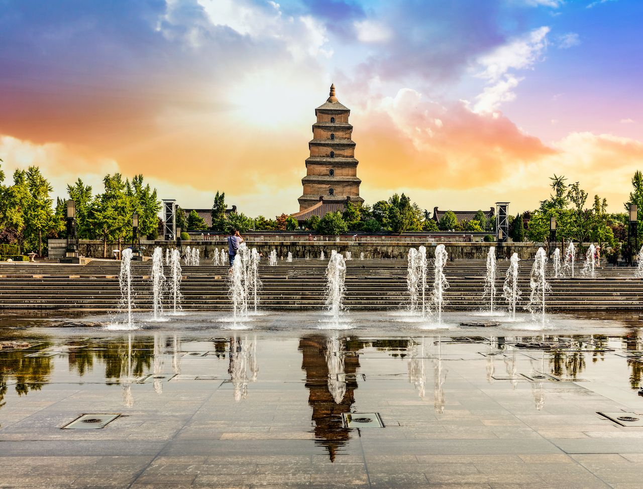 Giant Wild Goose Pagoda, Xian, China