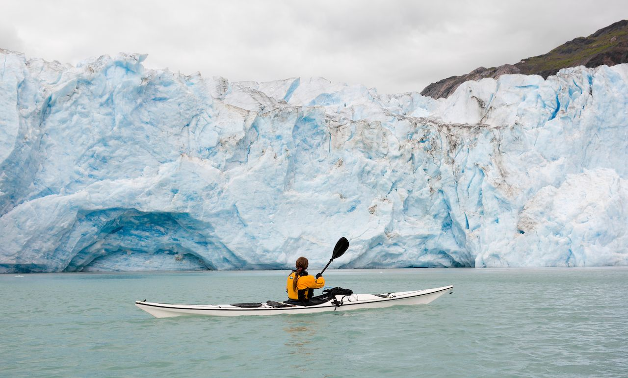 Glacier kayaking in Glacier Bay National Park, Alaska