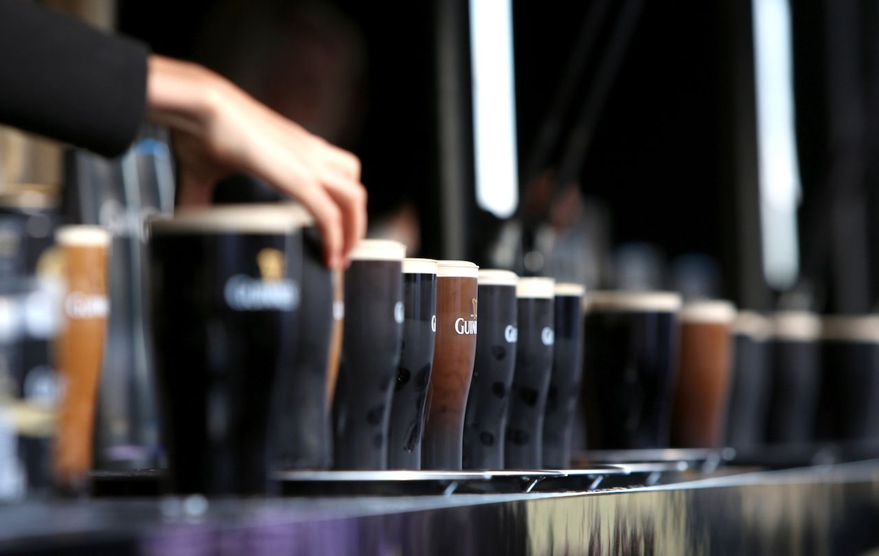 Guinness bar line up