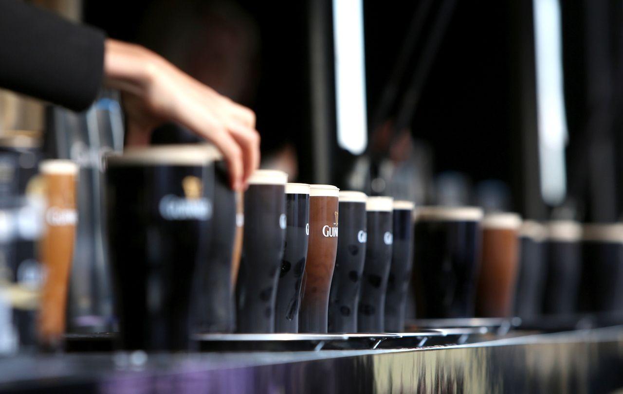 Guinness bar in a row