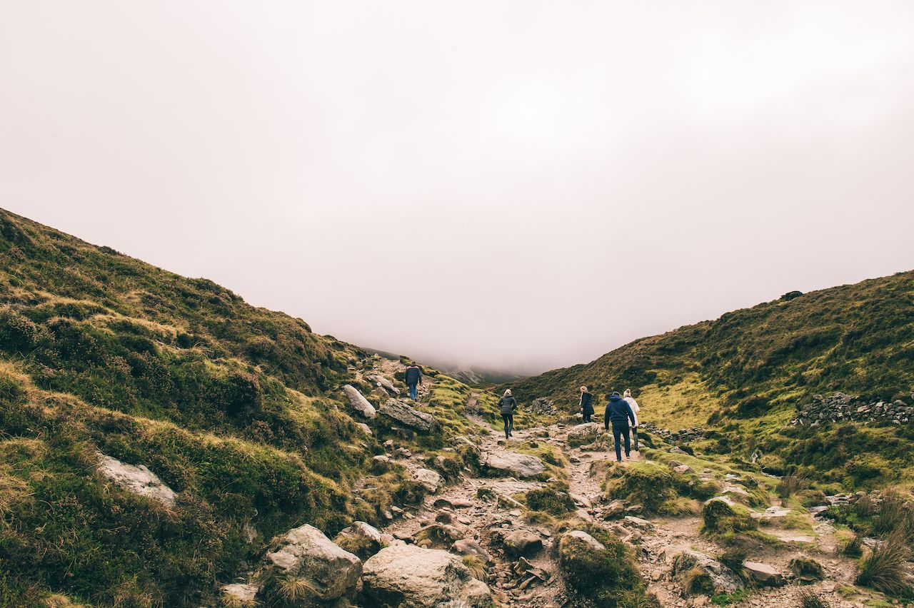 Hikers on Croagh Patrick