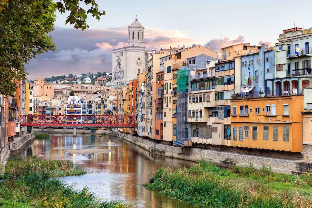 Historical jewish quarter in Girona, Barcelona, Spain