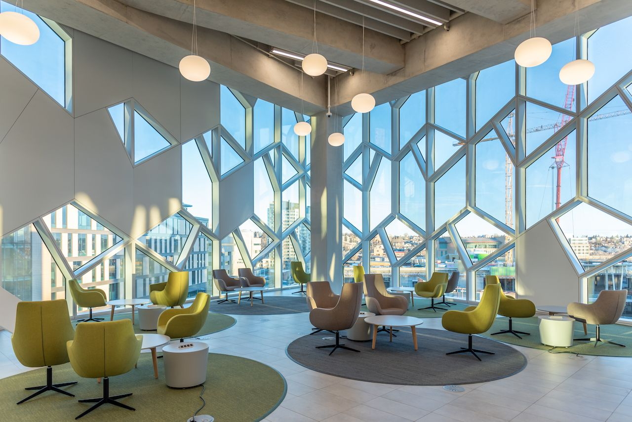 Interior of Calgary`s Central Branch of the Calgary Public Library