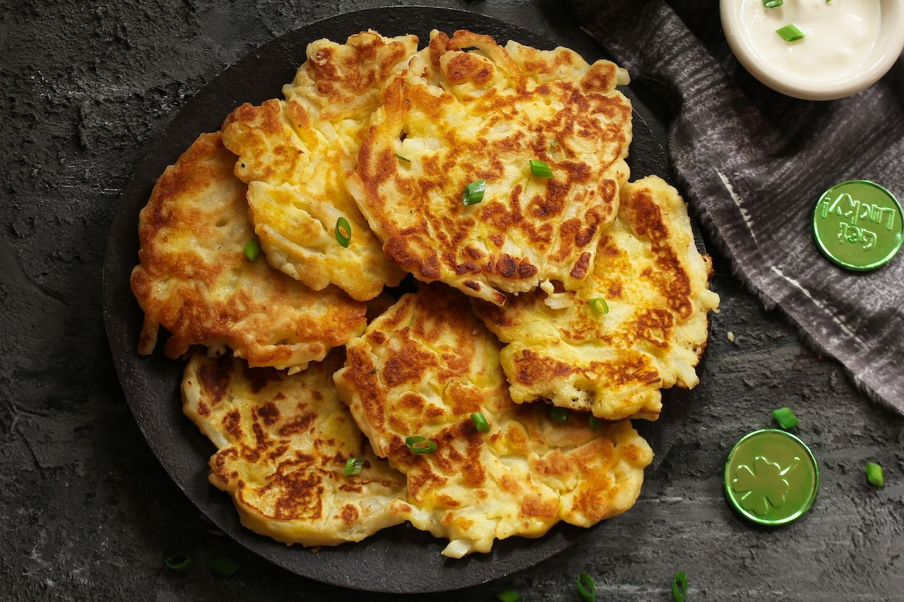 Irish potato pancakes, boxty