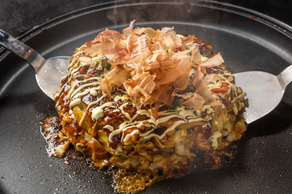 Japan Hiroshima food okonomiyaki
