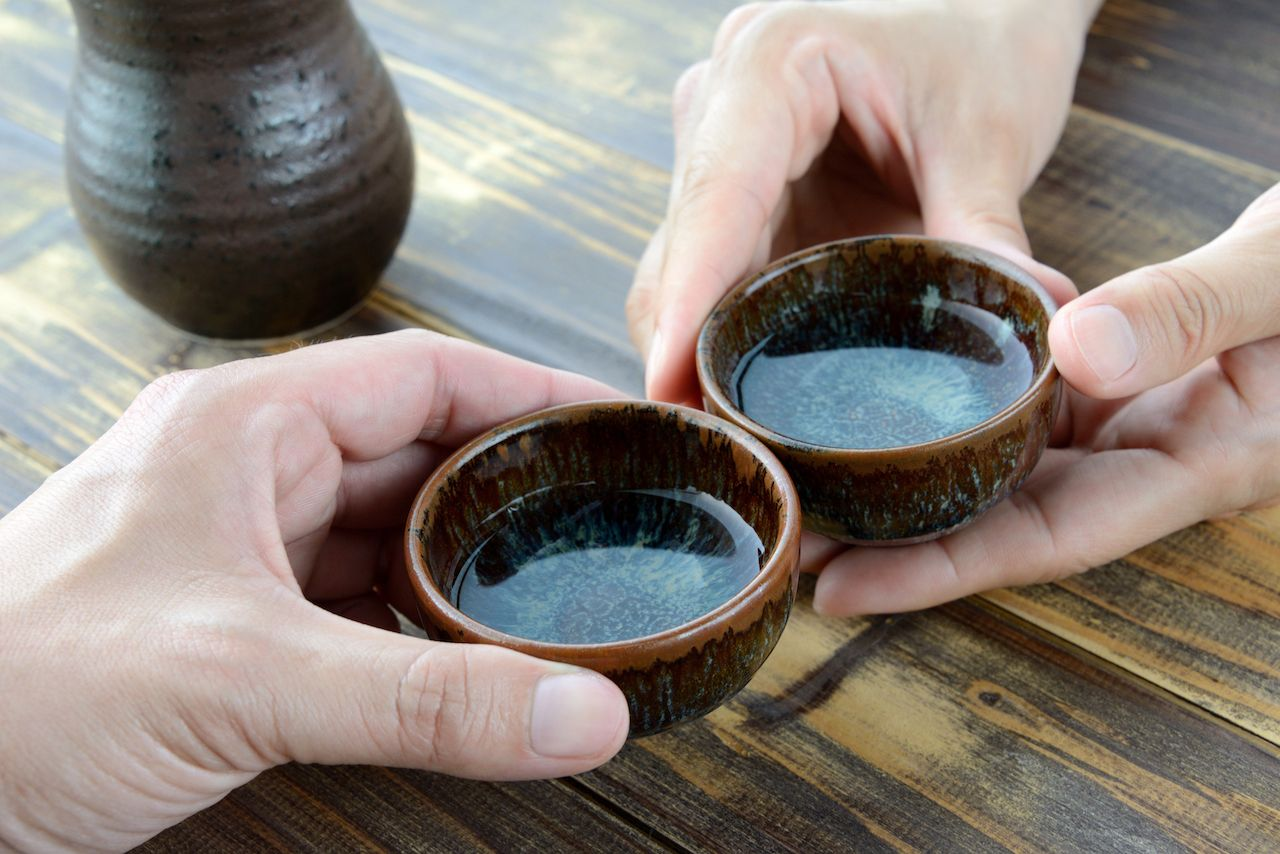 Japanese traditional alcoholic drink, sake