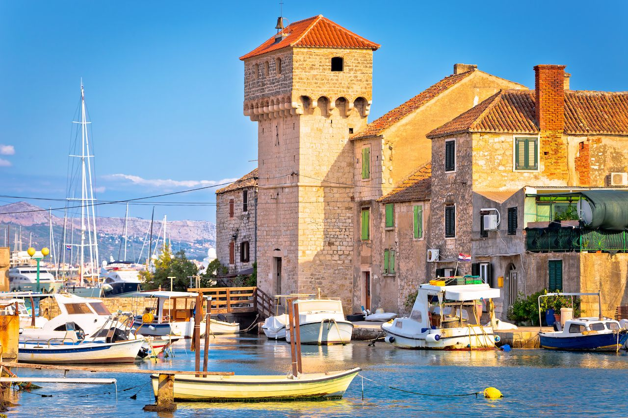 Kastel Gomilica old town on the sea near Split, Croatia