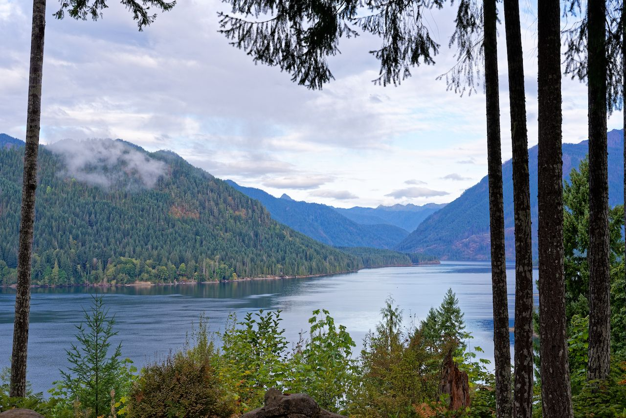 Lake Cushman in Olympic National Park, Washington
