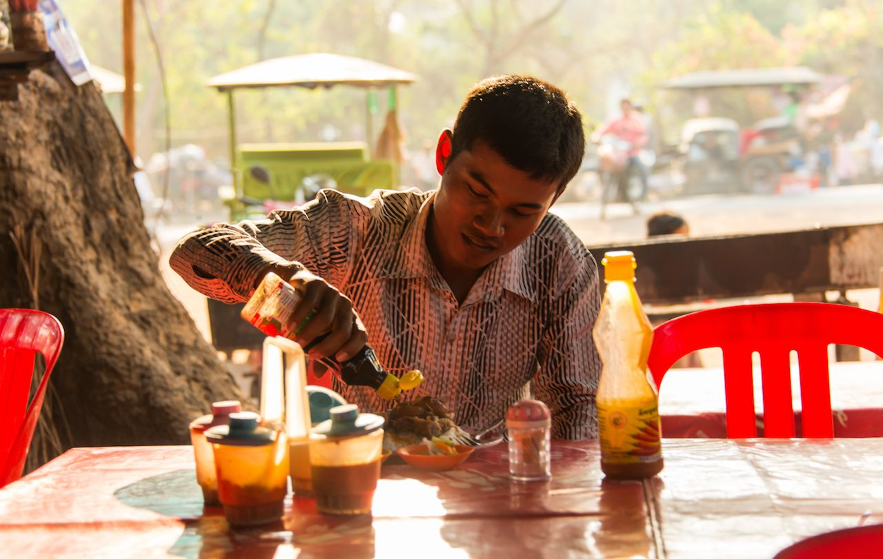Local street food in Cambodia