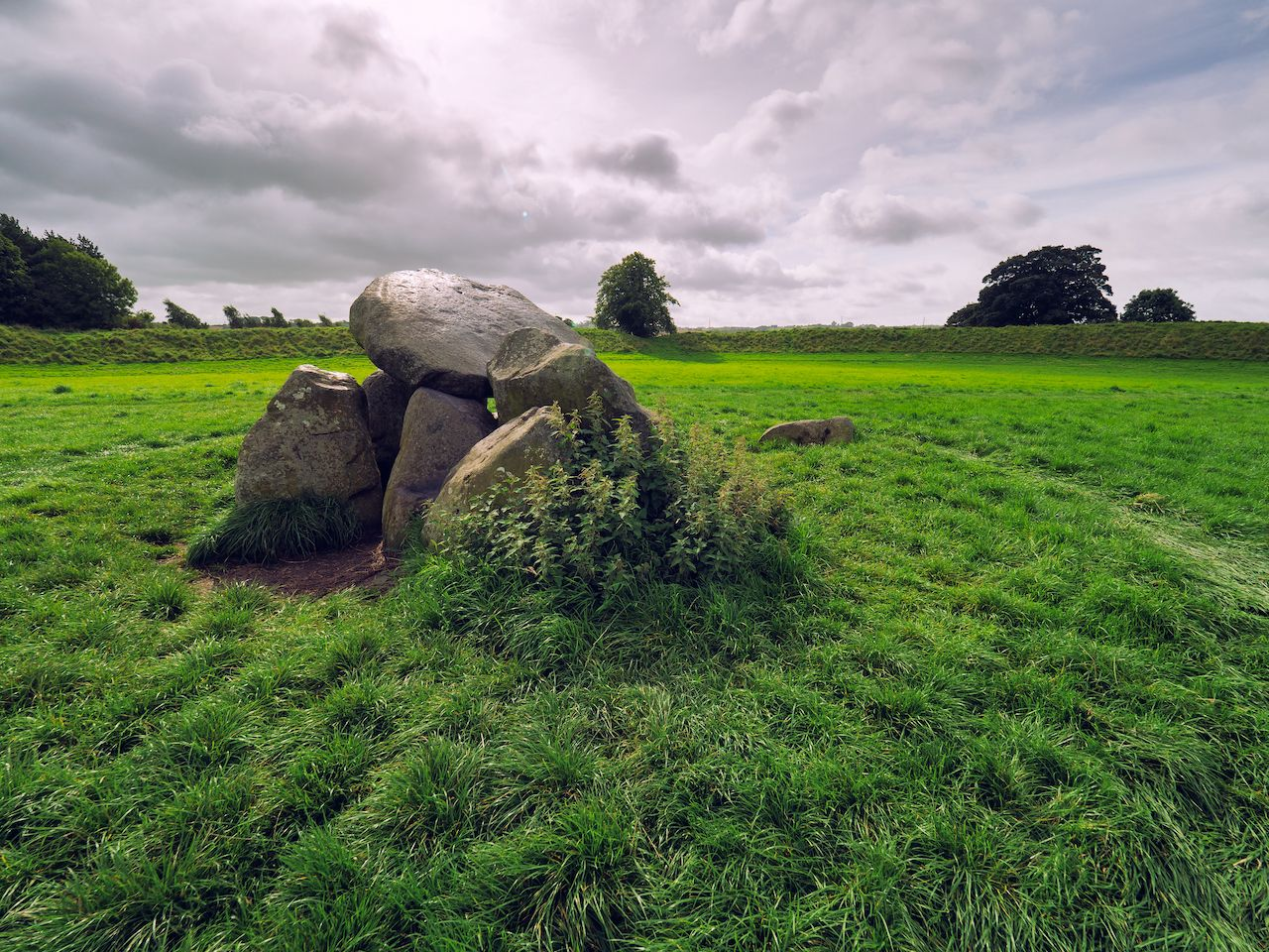 Megalithic tomb at the centre of Giant's Ring,Northern Ireland