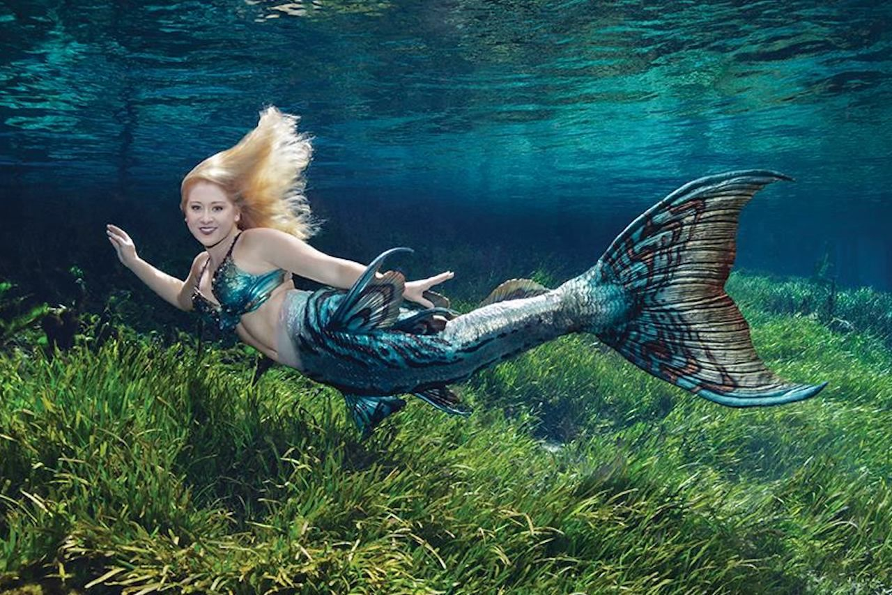 Mermaid at theme park in Florida
