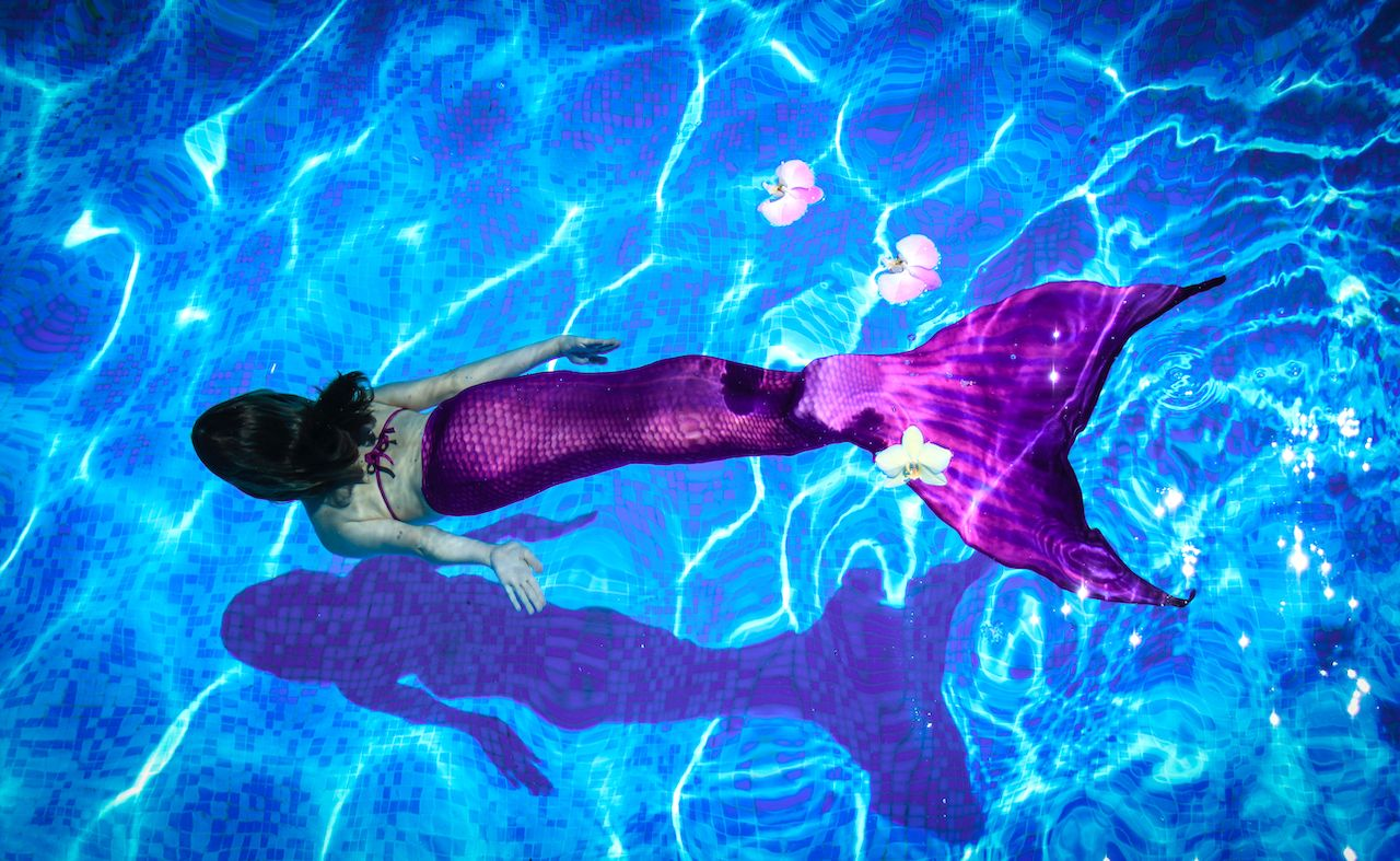 Mermaid swimming classes at Disney