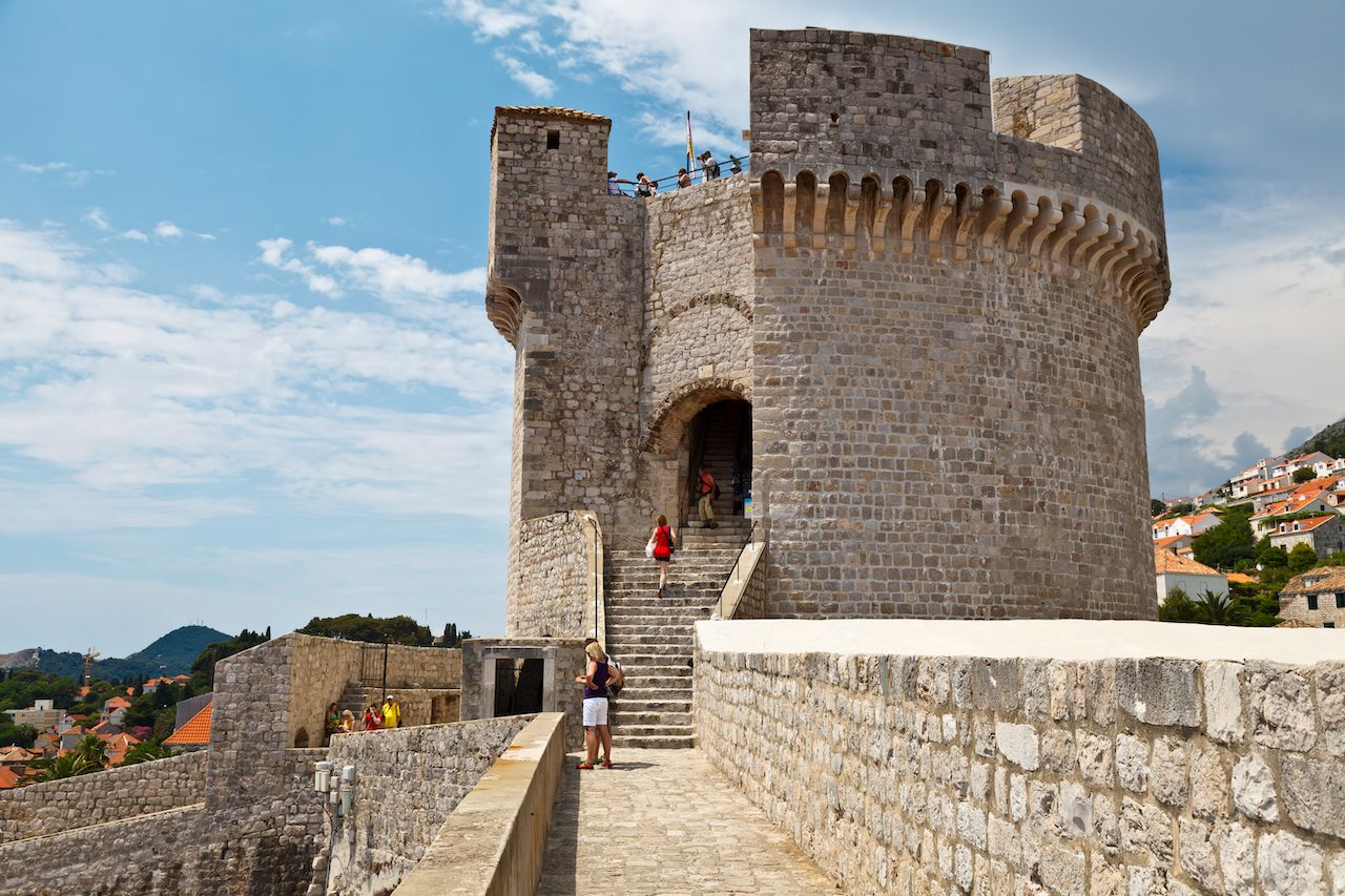 Minceta Tower in Dubrovnik, Croatia