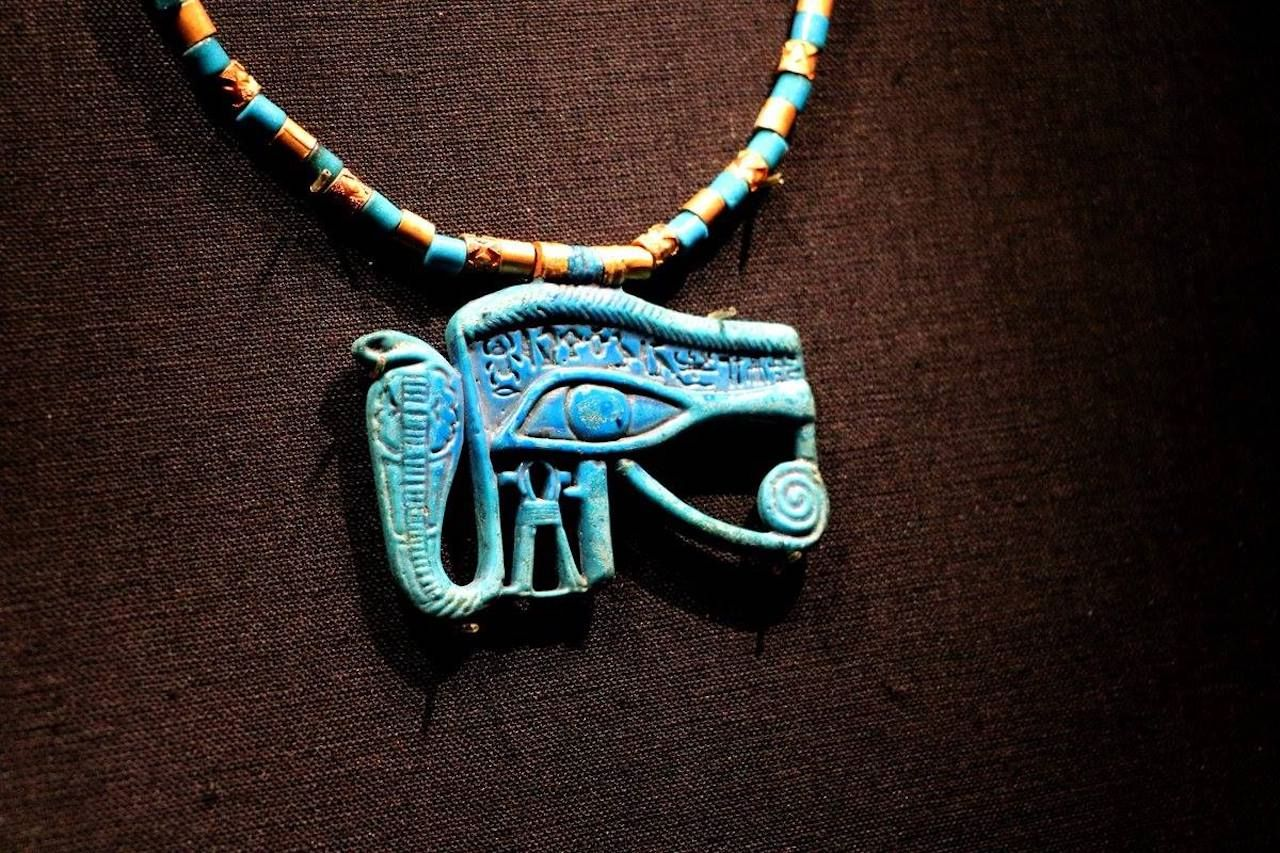Necklace from King Tut exhibit in Paris