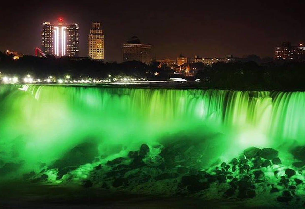 Niagara Falls will flow green this weekend for St. Patrick's Day