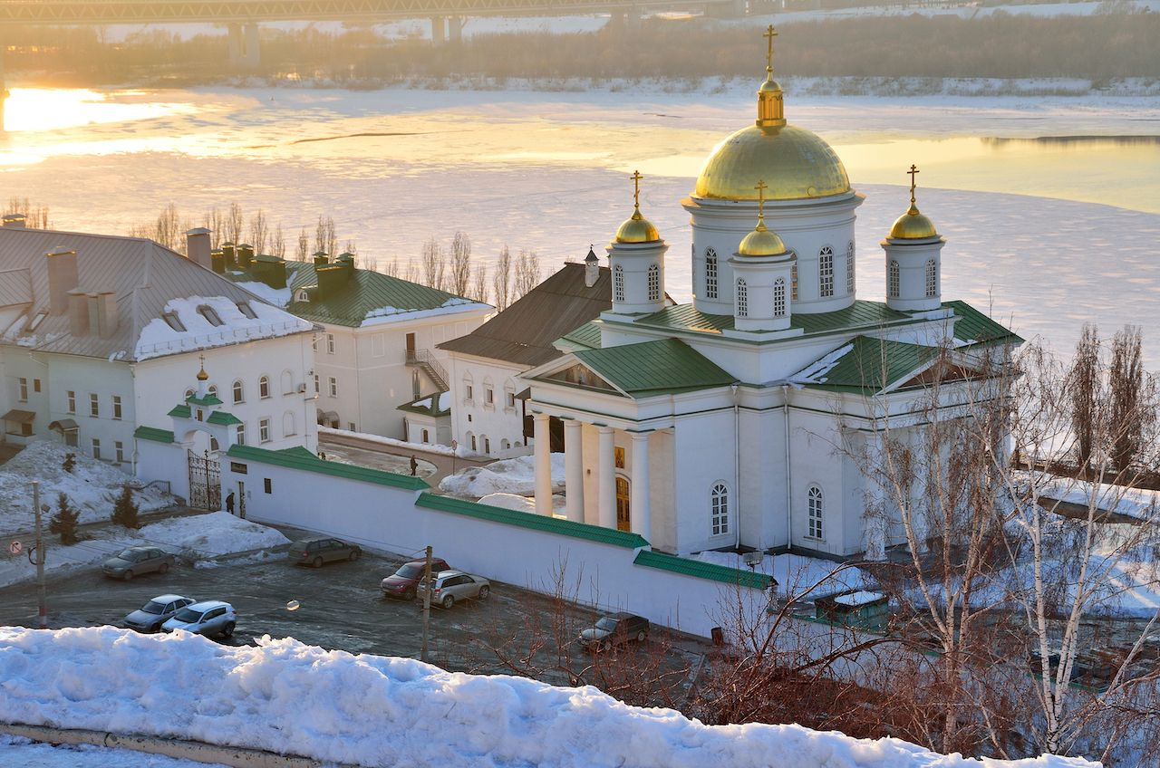 Nizhny Novgorod Monastery in the early evening