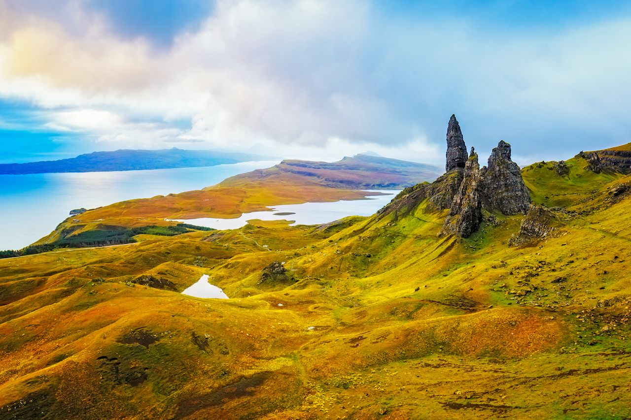 Old Man of Storr Rock Formation, Isle of Skye, Scotland