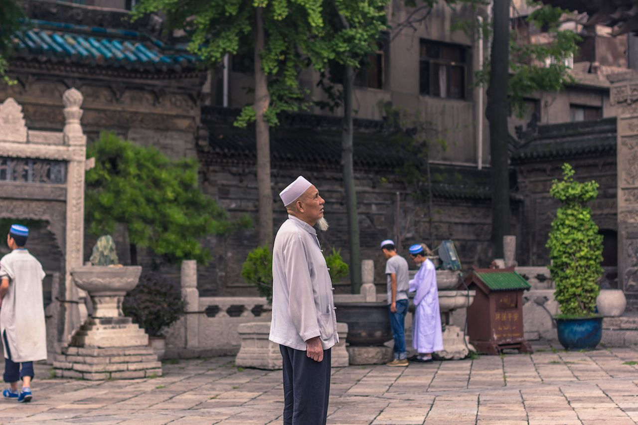 Old Muslim Chinese Men at the Great Mosque of Xi'an