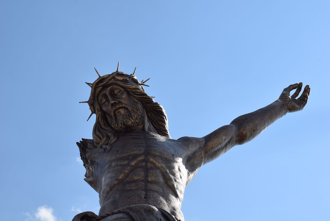 One-armed Christ statue in Mexico