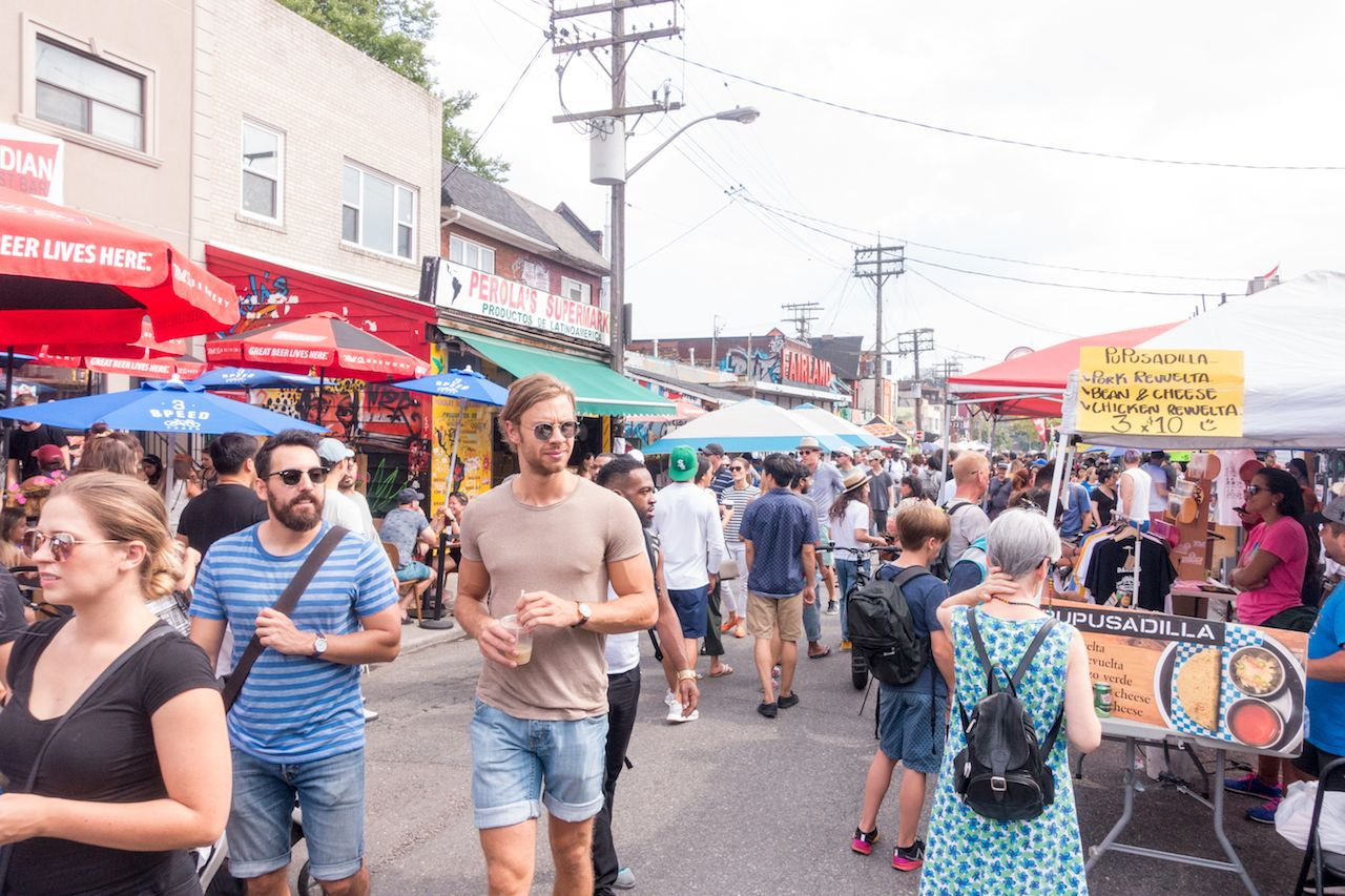 PEDESTRIAN SUNDAY IN KENSINGTON MARKET