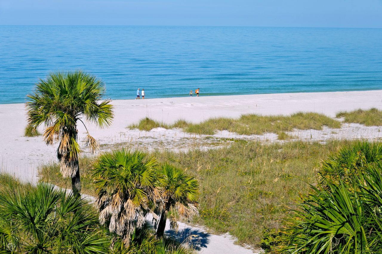 Peaceful Gulf Coast Beach in Florida