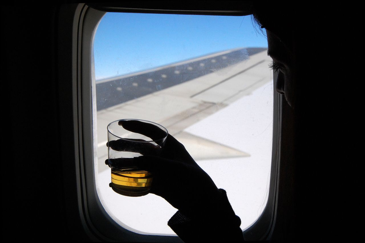 Alcohol rules while flying