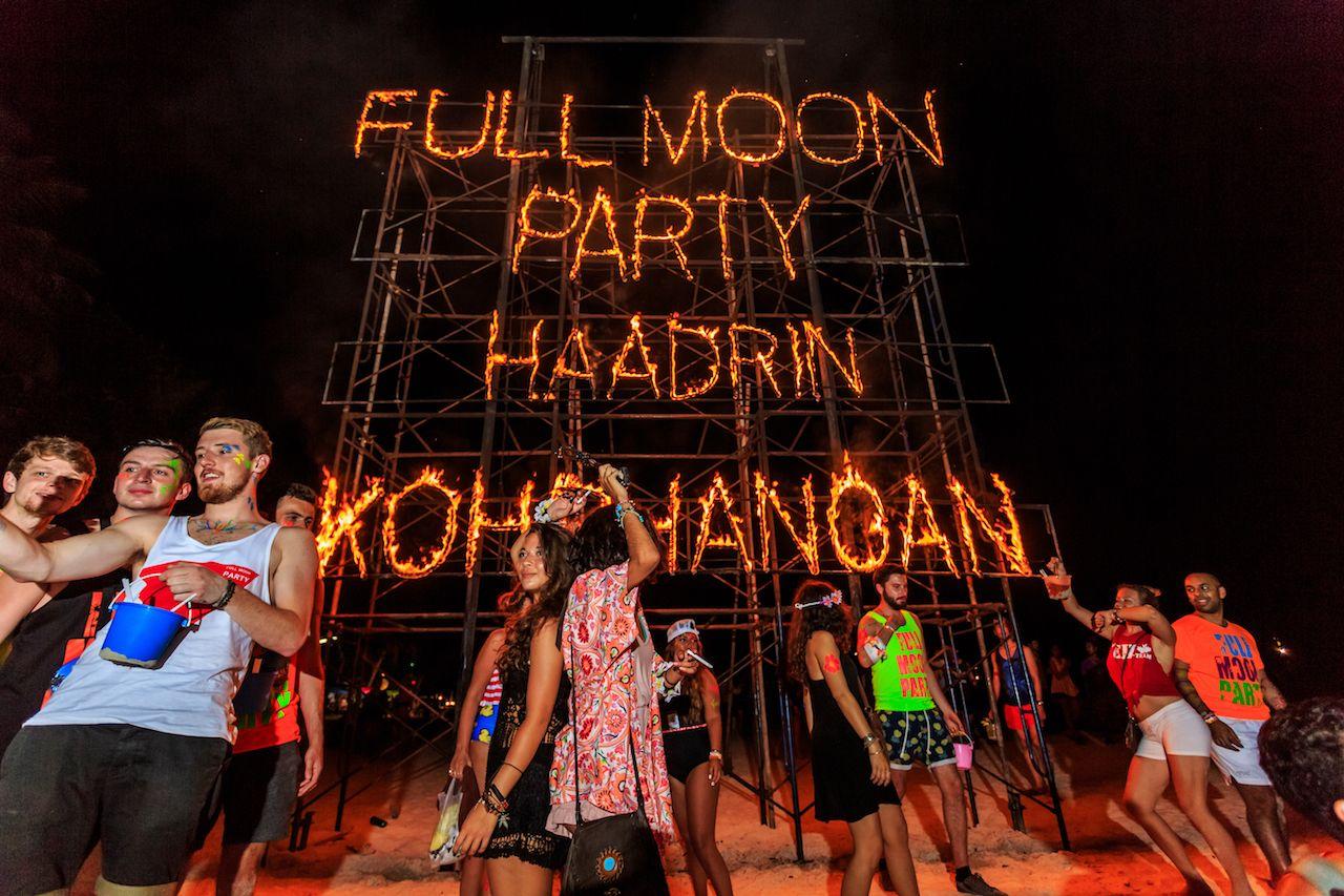Phangan beach Full moon party