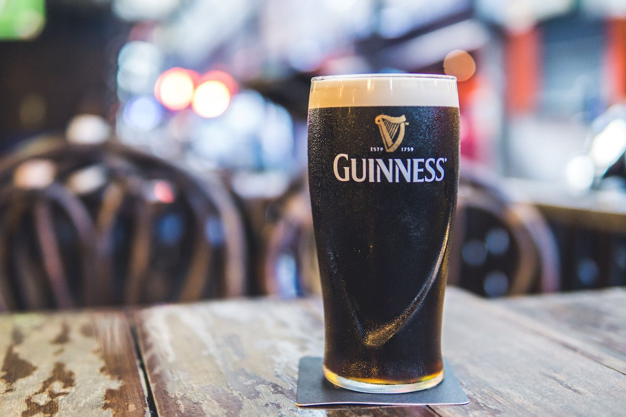 The proper way to drink Guinness