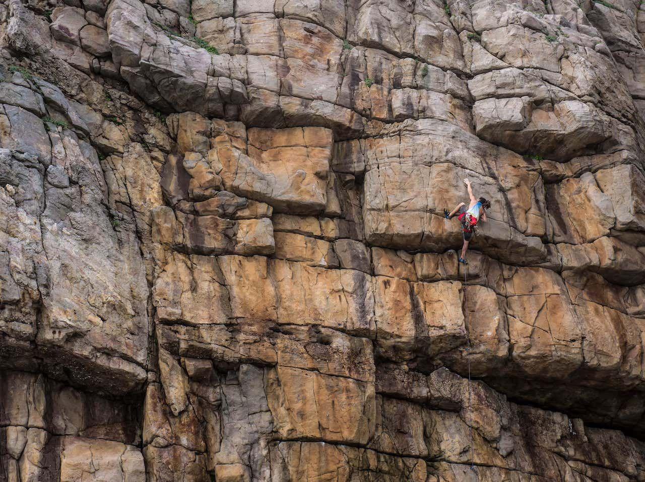 Rock climbing in Taiwan